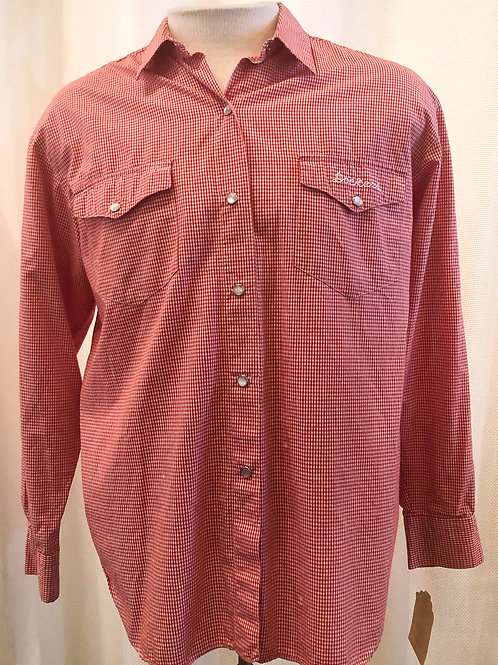 Vintage Red and White Gingham Dockers Button Down