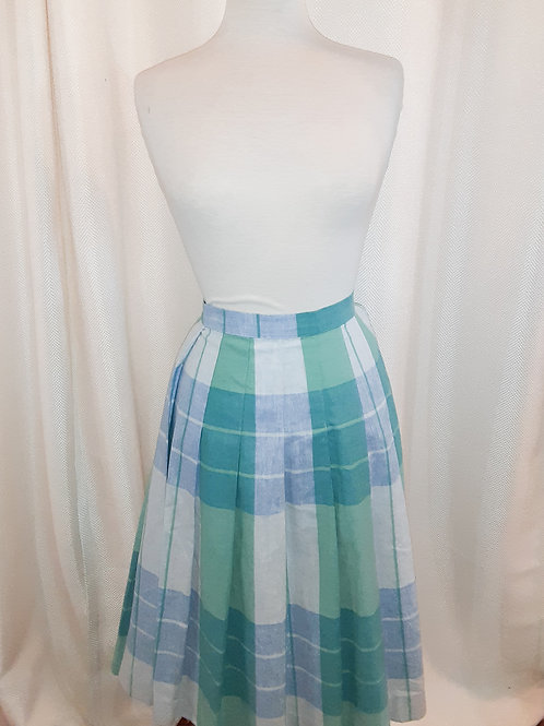 Vintage Plaid Cambridge Spirit Skirt