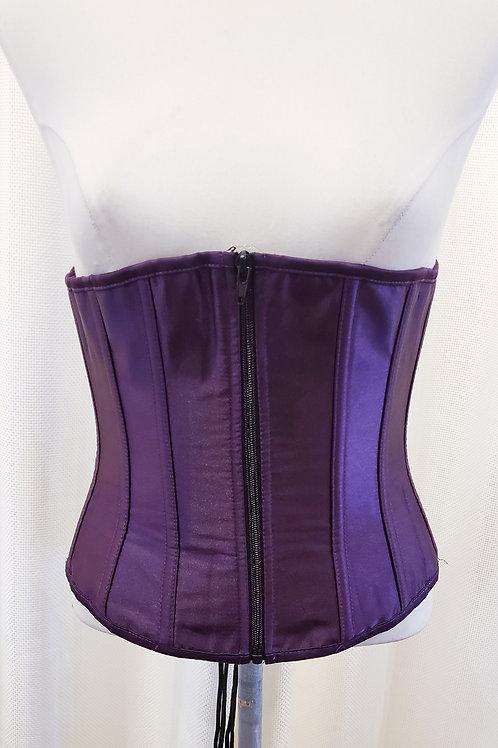 Vintage-Inspired Purple Corset