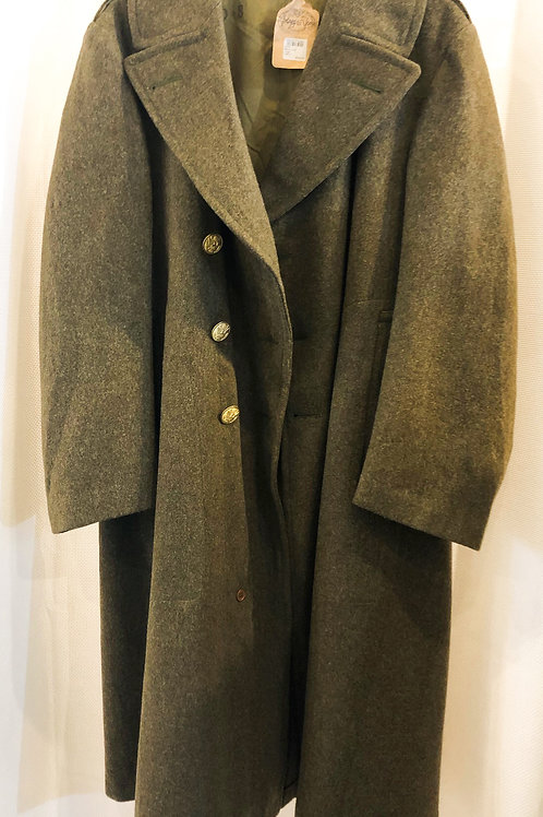 Vintage Long Green Military Coat