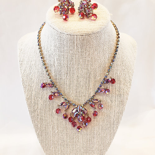 Vintage Red Beaded 2-Piece Set
