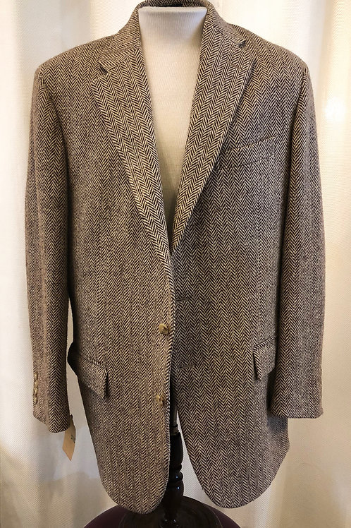Vintage Brown Ralph Lauren Polo Chevron Blazer