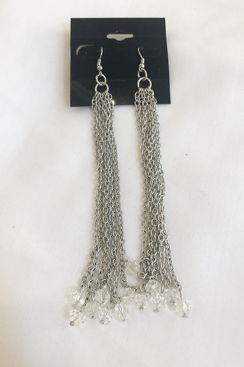 Vintage Silver Waterfall Earrings