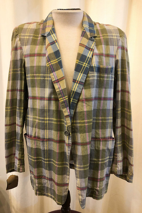 Vintage Plaid Private Originals Blazer