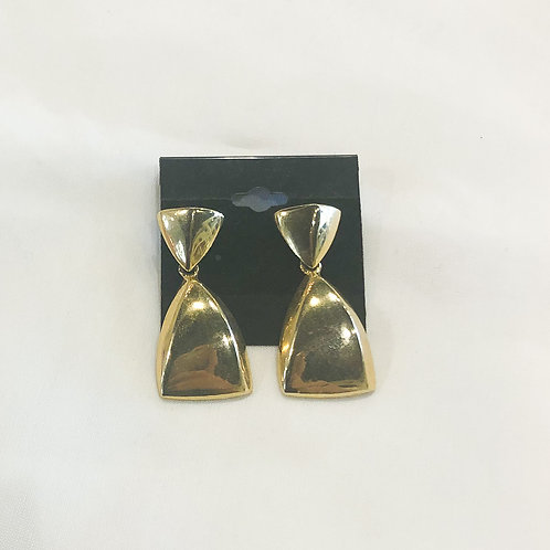 Vintage Gold Triangle Drop Earrings