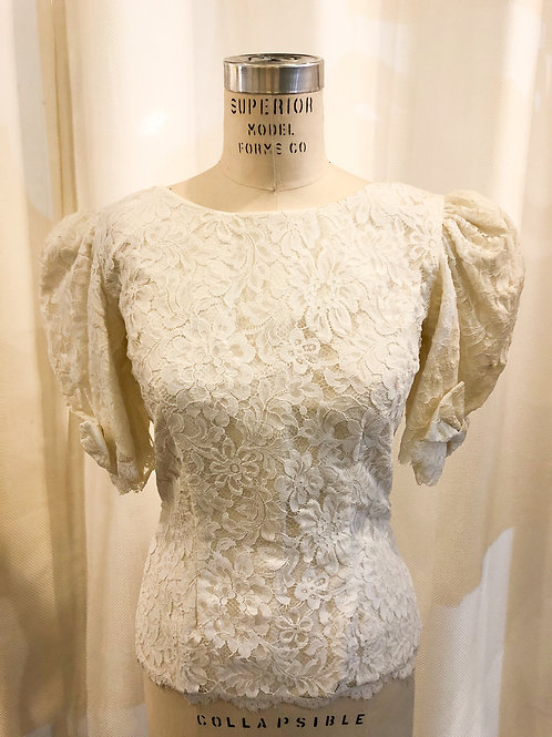 Vintage White Lace Top