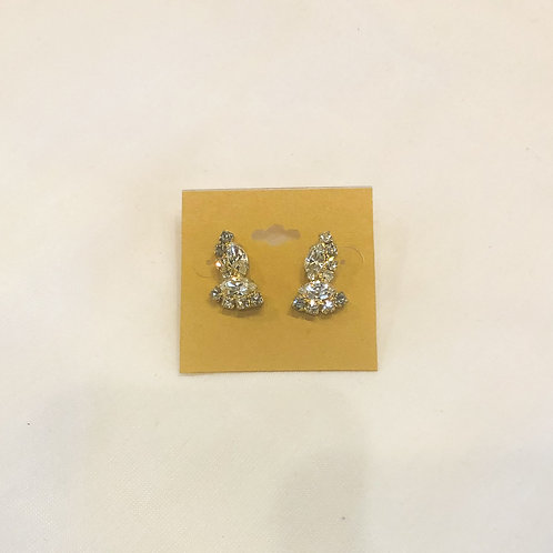 Vintage Small Rhinestone Earrings