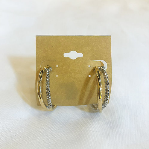 Vintage Silver and Gold Hoops