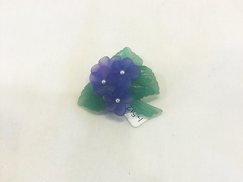 Vintage Purple Flower Brooch