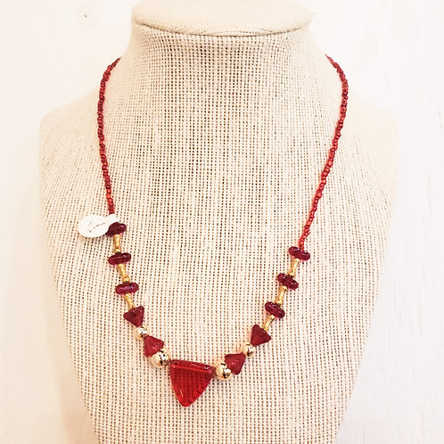 Vintage Red and Gold Necklace