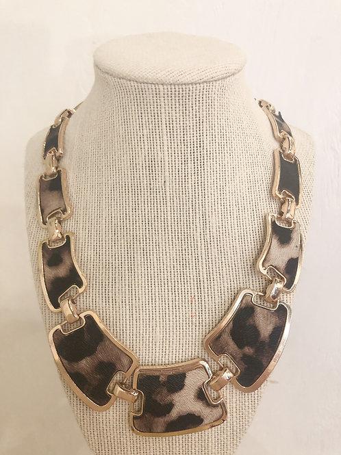 Vintage Leopard Linked Necklace
