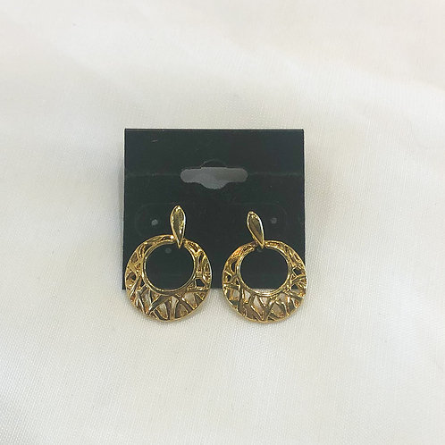 Vintage Small Gold Hoops