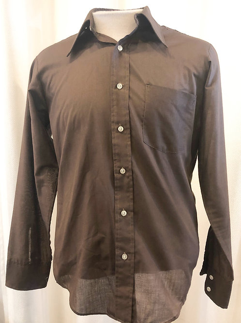 Vintage Brown BVD Button Down