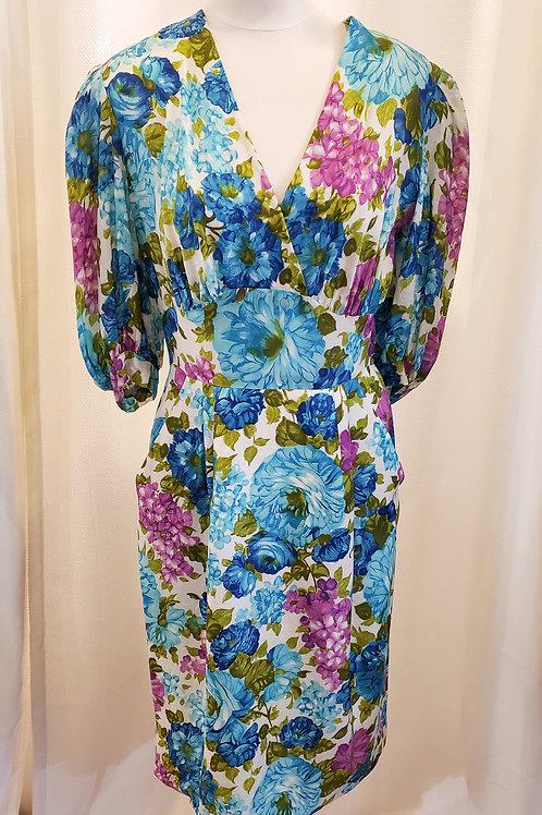 Vintage Floral Handmade Dress
