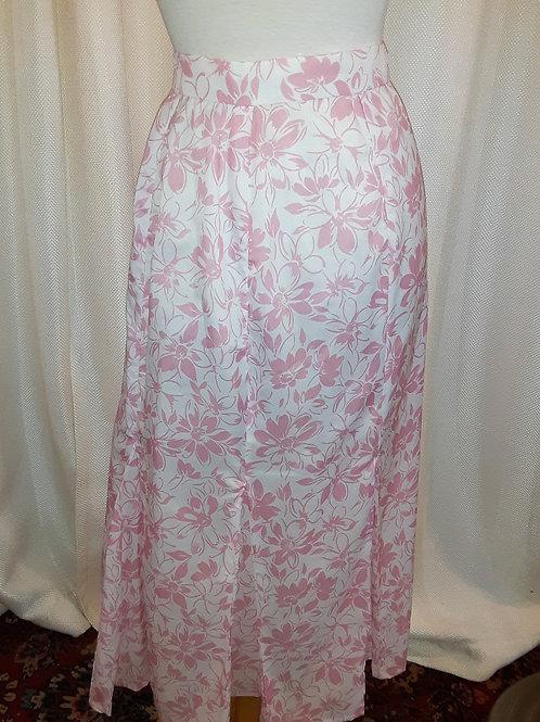 Vintage Handmade Pink Floral Skirt