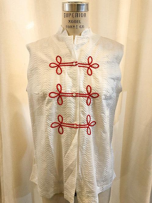 Vintage White Shadowline Shirt and Robe
