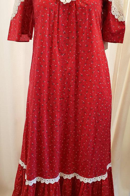 Vintage Red Hilda Hawaii Dress