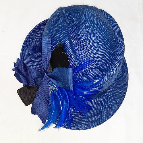 Vintage Lords Hat with Feathers and Bow