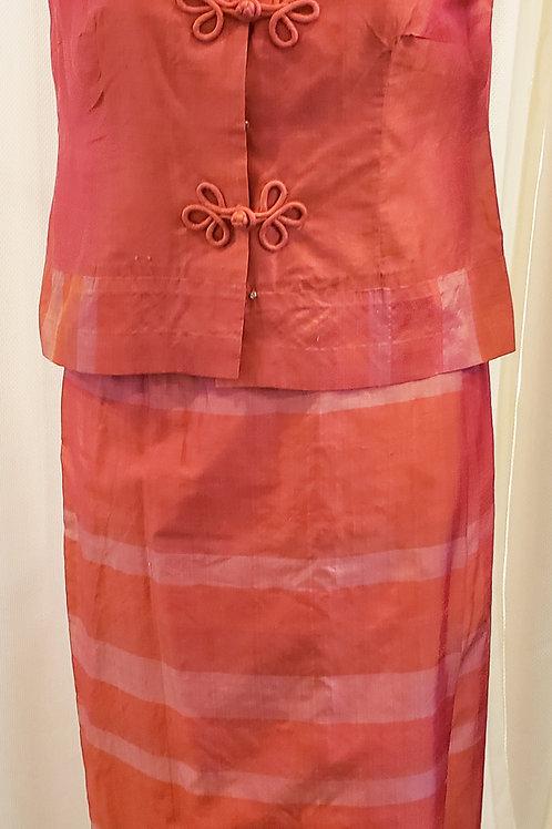 Vintage Pink Two-Piece Handmade Set
