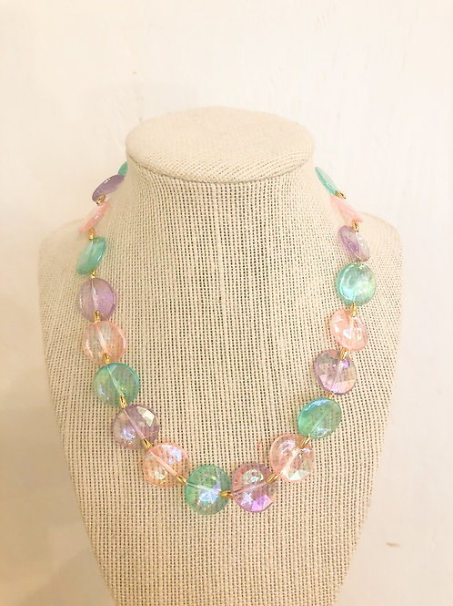 Vintage Pastel Beaded Necklace