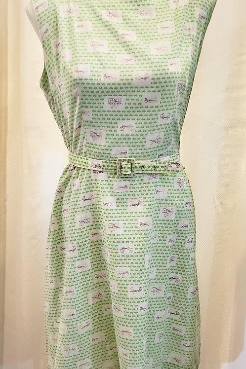 Vintage Green Tractor Dress