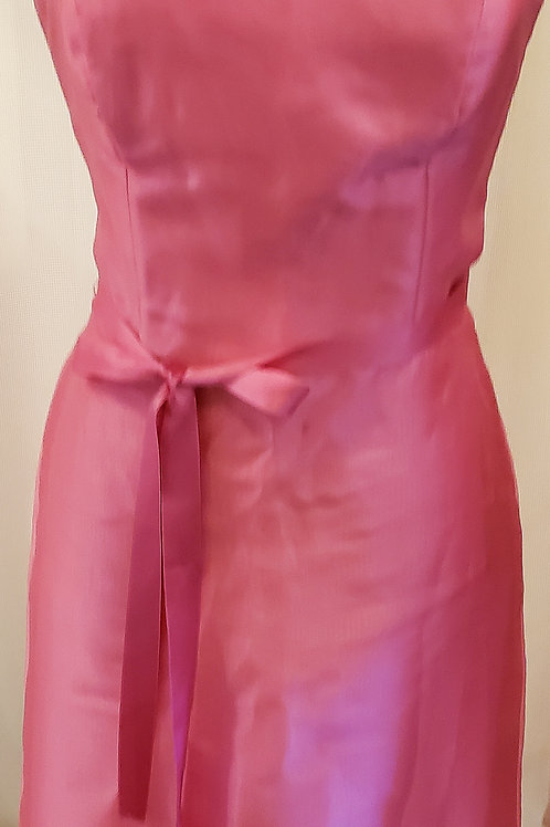 Vintage Pink Strapless After Six Dress
