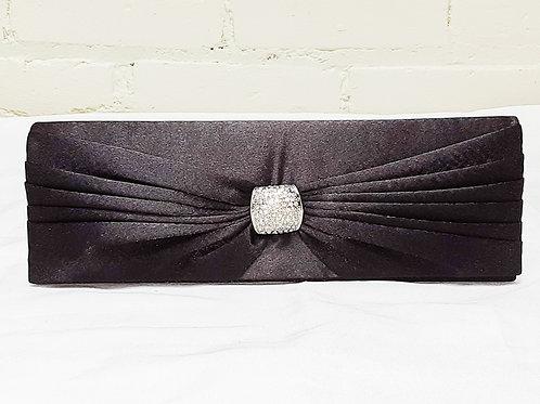 Vintage Black Baguette Bag