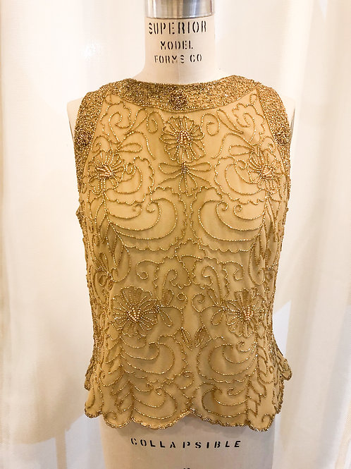 Vintage Gold JKARA sleeveless top