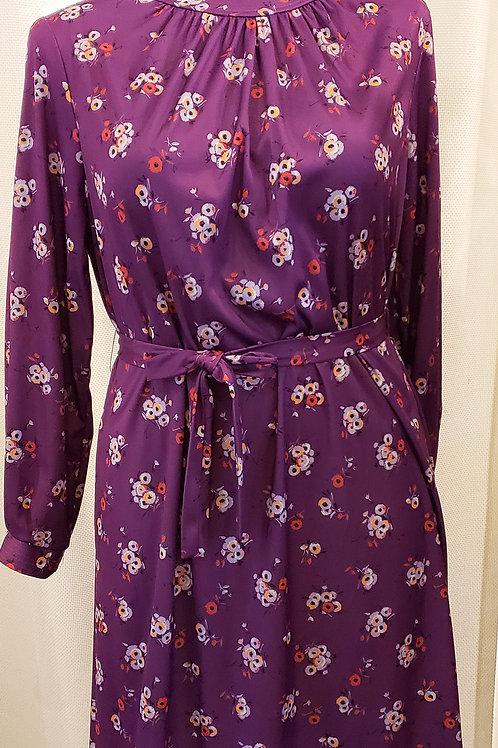 Vintage Purple Floral Dress