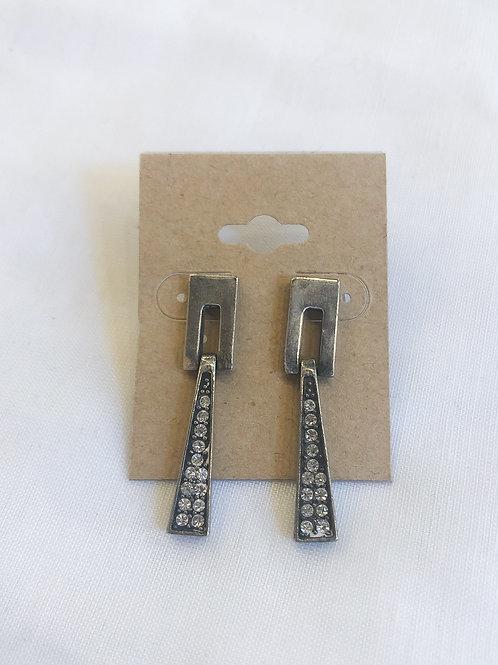 Vintage Rhinestone Geometric Earrings
