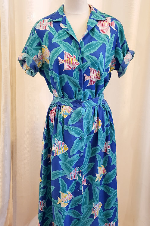 Vintage Blue Cheryl Tiegs Two-Piece Set