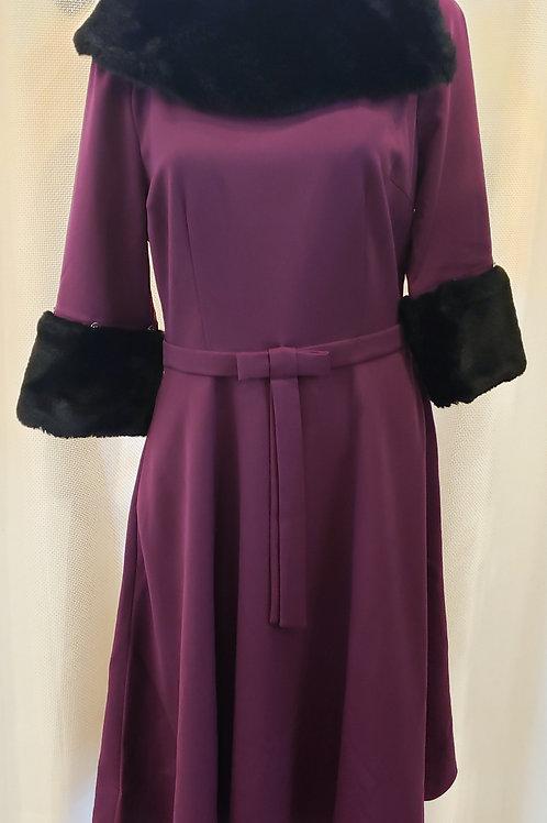 Vintage-Inspired Purple Dress