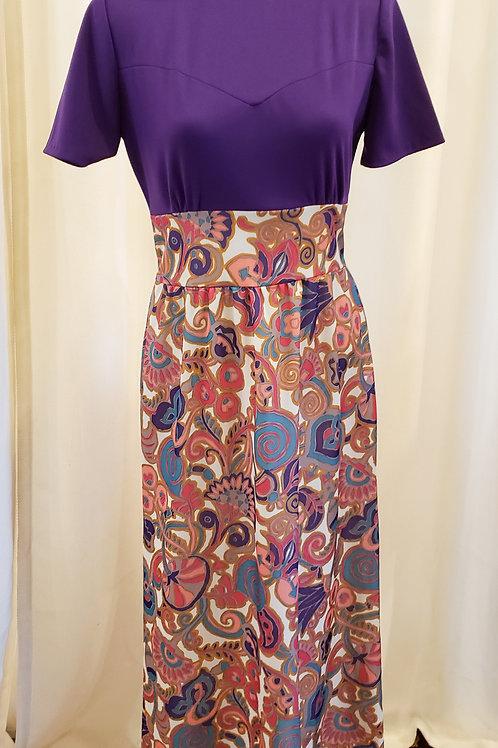 Vintage Purple Maxidress