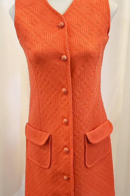 Vintage Coral Haymaker Dress