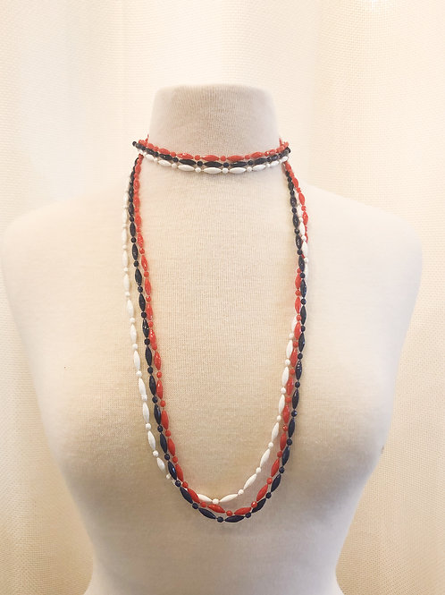 Vintage Red, White, and Blue Necklaces