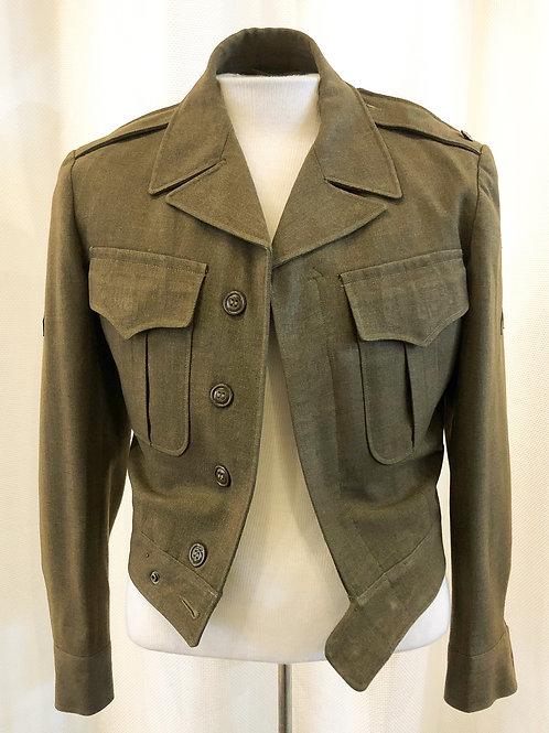 Vintage Green 1940s Military Jacket