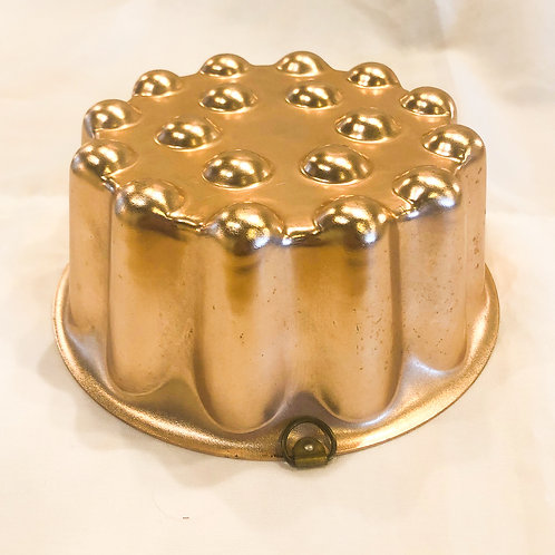 Vintage Dotted Copper Cake Pan