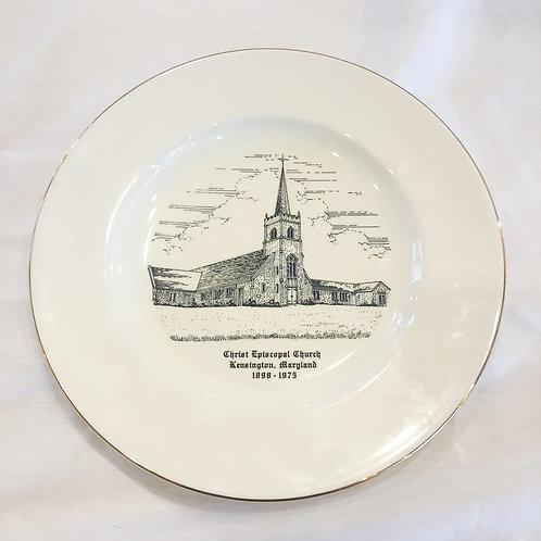 Vintage Christ Episcopal Church Plate