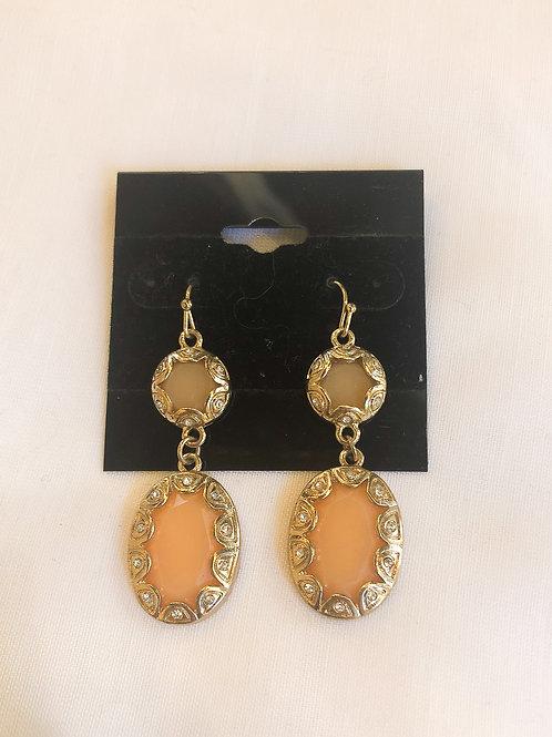 Vintage Peach Drop Earrings