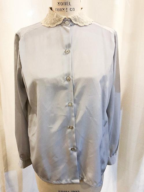 Vintage Light Gray Koret Blouse