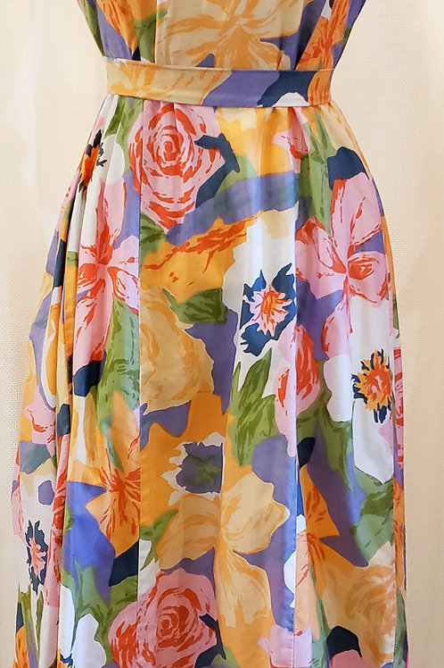 Vintage Multicolored Floral Tori Richard Dress