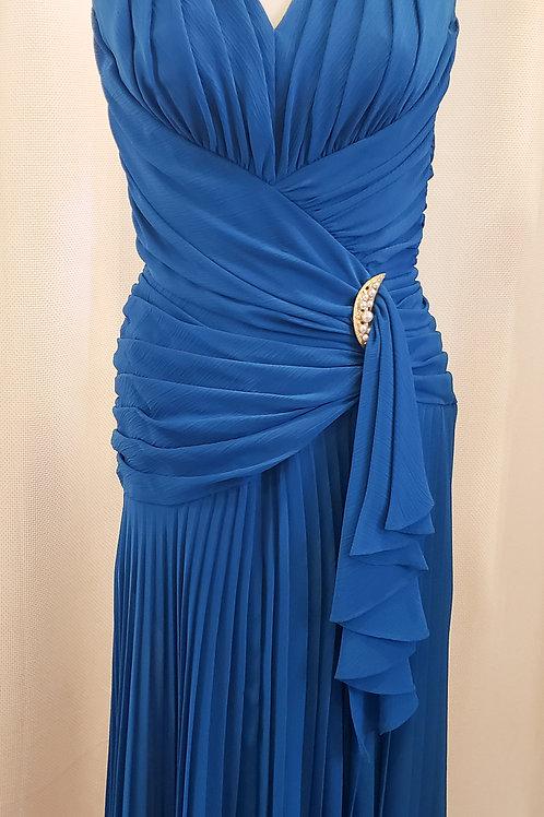 Vintage Blue BB Collection Halter Dress