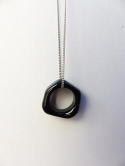 marie tellier_perle anneau de verre noir