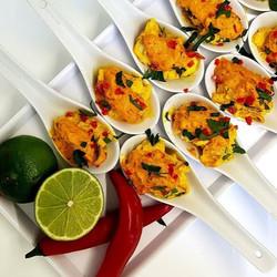 Moqueca spoons by _brazucatering _#brazu