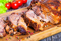 Big Piece Of Slow Cooked Oven-barbecued