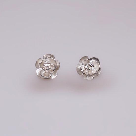 Silver Rose Earrings (Pre-order)