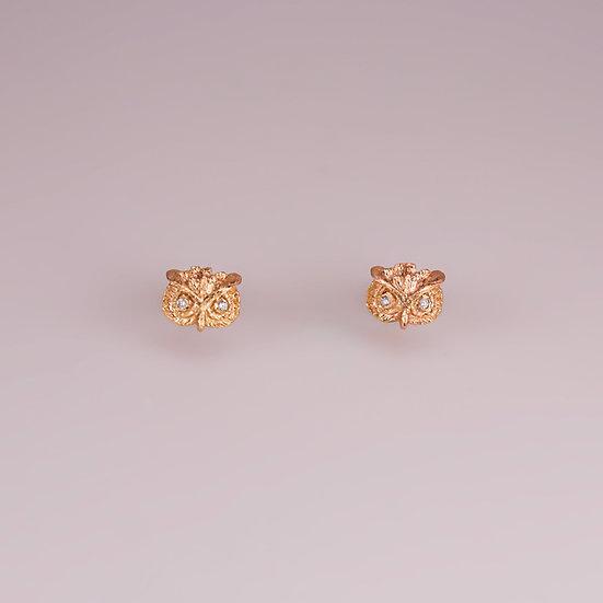 14kt Gold Owl Earrings (Pre-order)
