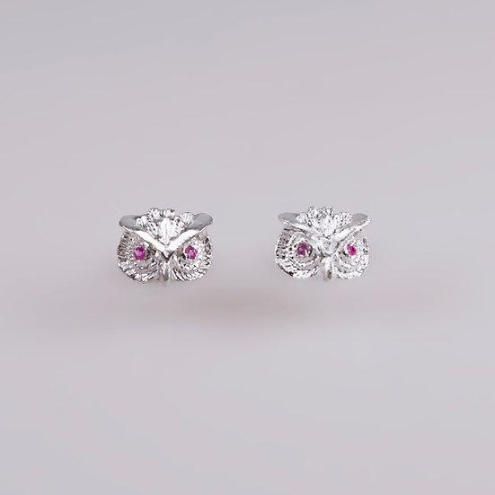 Silver Owl Earrings (Pre-order)