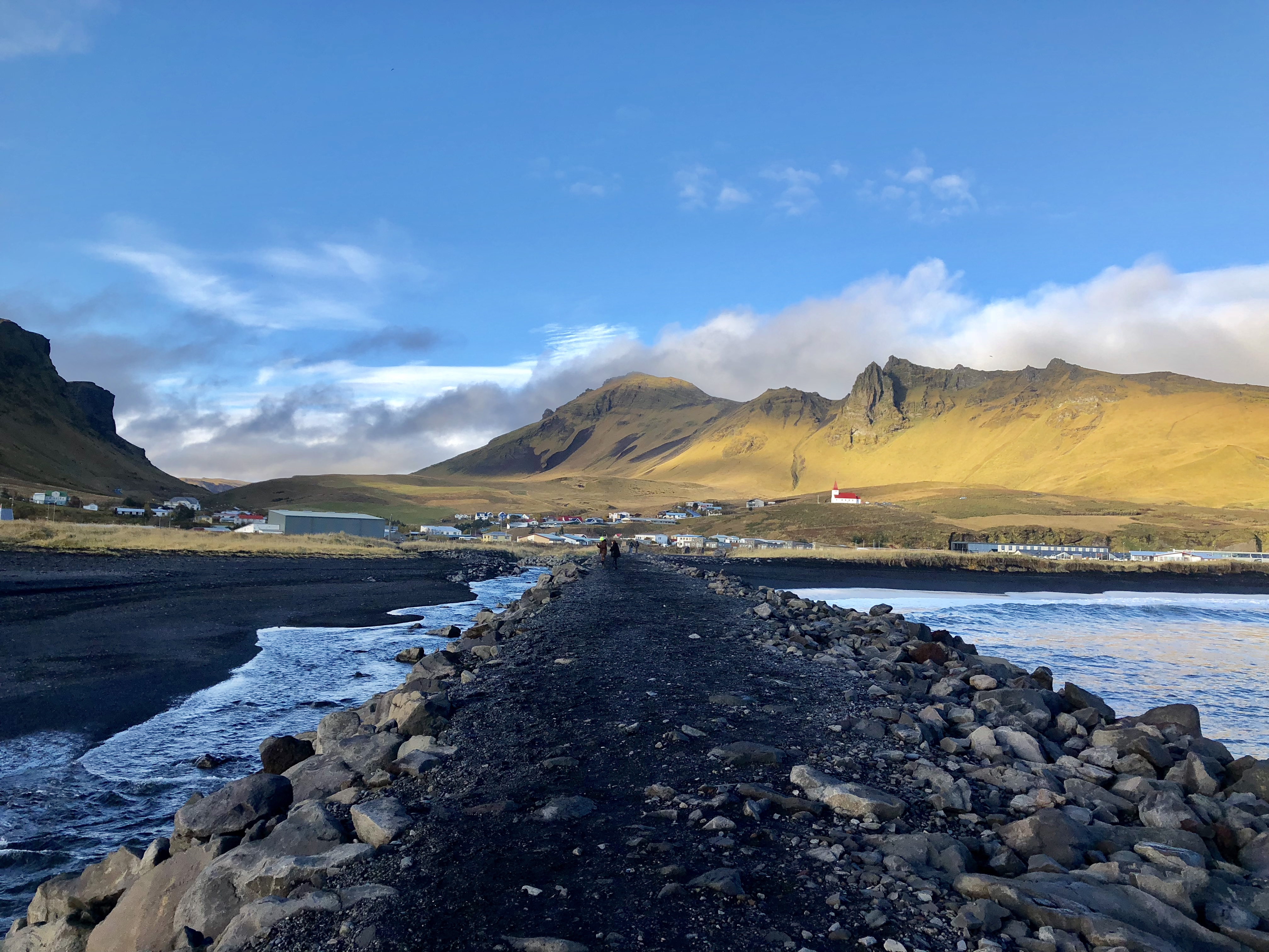 Black Sands village, Iceland
