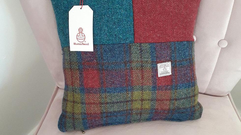 Beautiful Harris Tweed cushion    16 inch